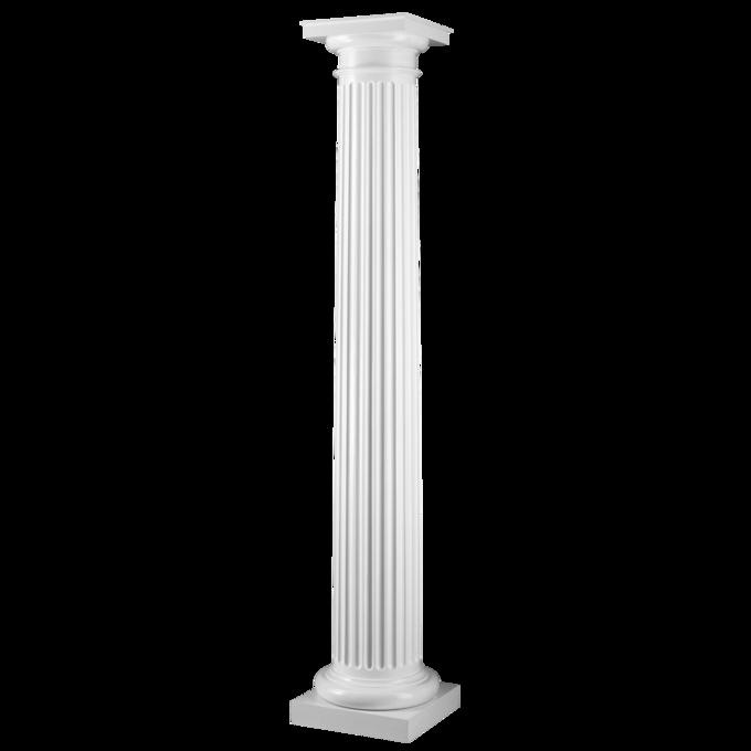Fluted Round Tapered Column, Round Wood Columns