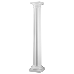 Fluted Round Tapered Column